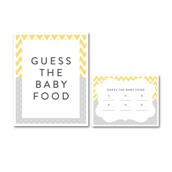 Free Printable Baby Shower Yellow Gray Chevron Gender