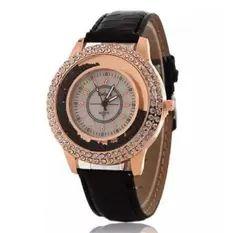 Gogoey Women's Black Leather Strap Watch CWL- MS10