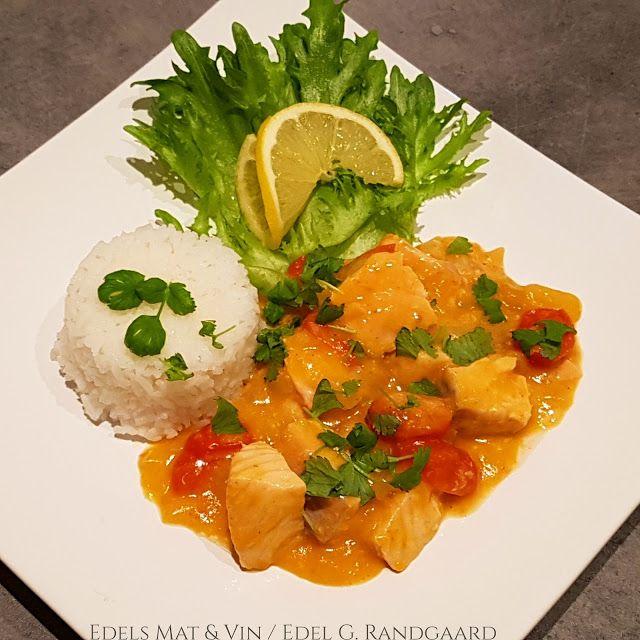 Edels Mat & Vin: Asiatisk laksegryte med ris  ✿⊱╮✿⊱╮