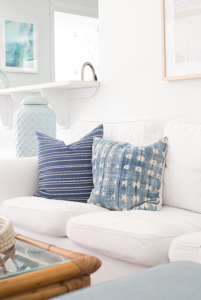 Light and Bright Summer Living Room - Making Home Base