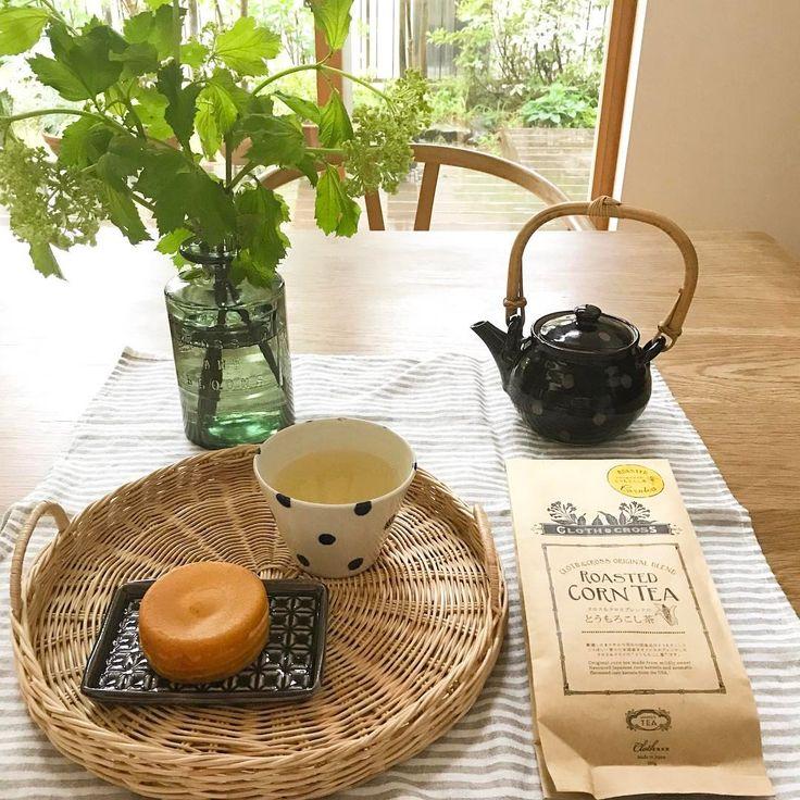 いいね!56件、コメント1件 ― ❋ Noriko ❋さん(@norimmekko)のInstagramアカウント: 「2017. 5. 13 ② ❋ 今日は一日雨なのでお家でゆっくり。 今川焼にクロスアンドクロスのとうもろこし茶でティータイム。…」
