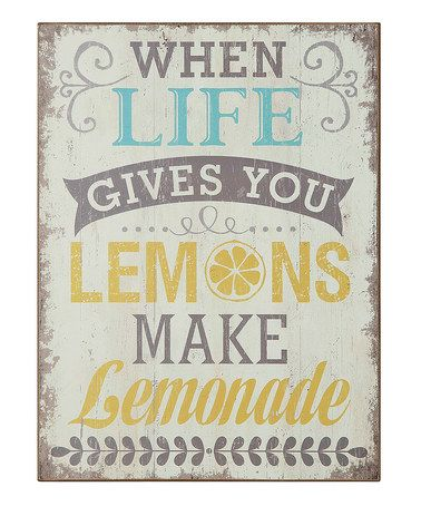Look what I found on #zulily! 'When Life Gives You Lemons' Wall Art #zulilyfinds