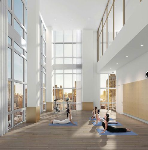 Foyer Ceiling Yoga : The halcyon at e st features an innovative yoga