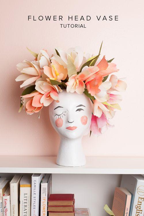 DIY flower head vase