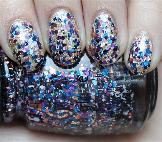 China Glaze Your Present Required from the Happy HoliGlaze Collection! (Layered over OPI Love. Angel. Music. Baby from the OPI Gwen Stefani Collection) - Click through fro an in-depth review & more swatches of Your Present Required!
