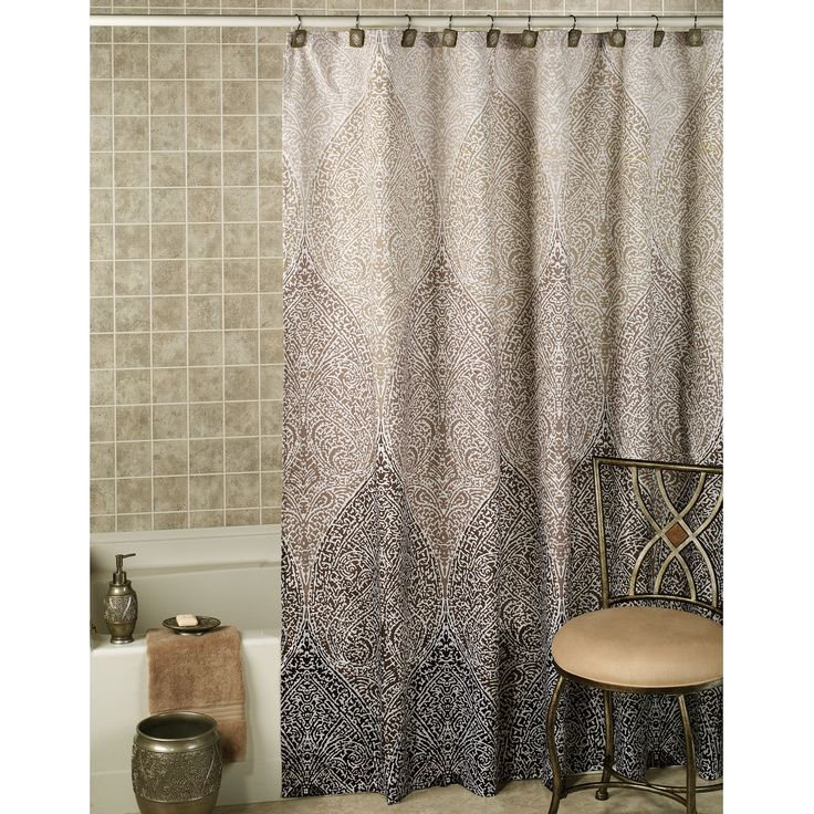 Casablanca Ombre Moroccan Design Shower Curtain