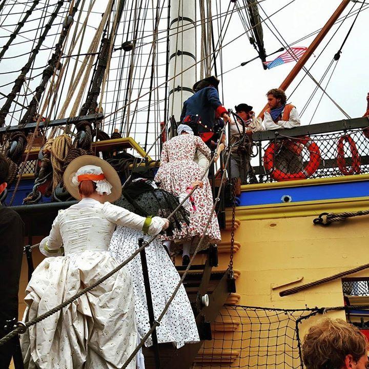 Day 3 - boarding l'Hermione at Yorktown | American Duchess