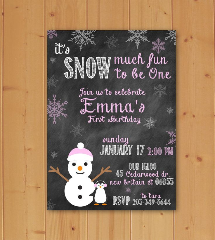It's Snow Much Fun Invitation, It's Snow Much Fun to be One Invitation,Electronic File, Downloadable File, Snow much Fun Invitation by JMCustomInvites on Etsy