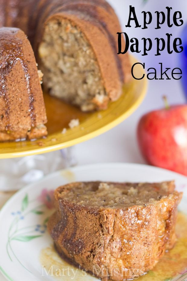 Apple Cake Recipe from Marty's Musings is perfect for using fall apples and ingredients easily found at home. Served warm or cold, for dessert or breakfast, this cake is a hit with both family and friends. Delicious served any time of the year.