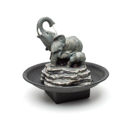 Decor Desk Elephant Watering Hole Fountain - Water Fountain