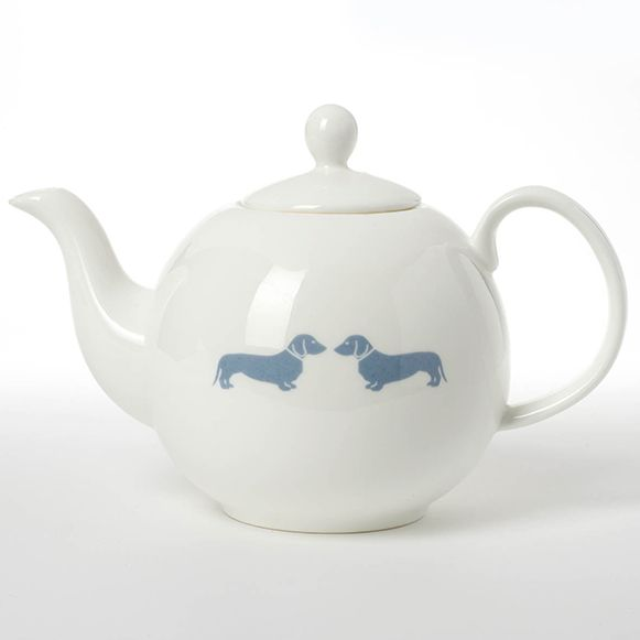 Doxie Decor: Emily Bond designed this teapot with a matching mug and creamers.