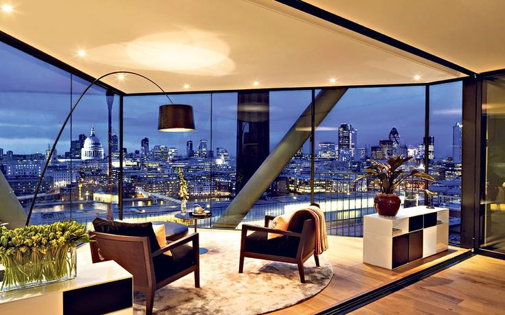 View from flat in Neo Bankside development - Breathtaking views of some of the capital's landmarks are a feature of this award-winning Neo Bankside development.  Pictured apartment is on the market for £5.3m