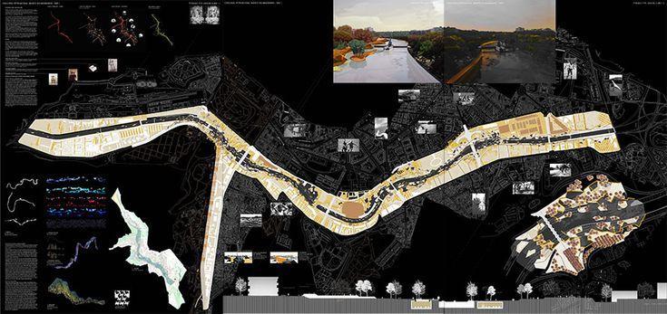 Rio Manzanares Linear Park competition - madrid  #PROAP #landscapearchitecturecompetition