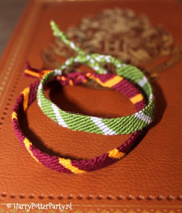 Make your own Harry Potter Hogwarts house friendship bracelet. Make it for yourself or for anyone that loves Harry Potter.