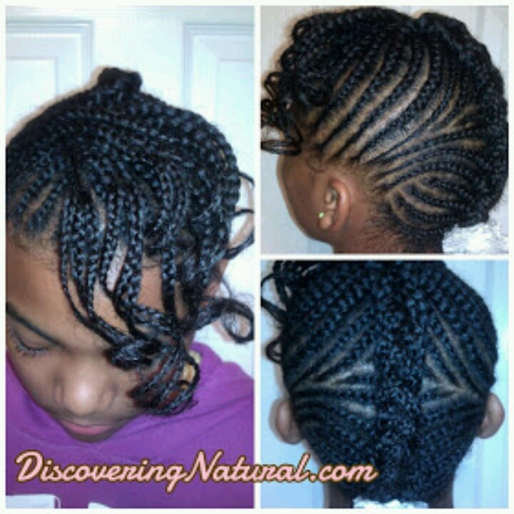 Image result for cornrow bun with bangs