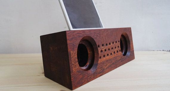 Check out this item in my Etsy shop https://www.etsy.com/listing/470315385/acoustic-wood-amplifier-speaker-for