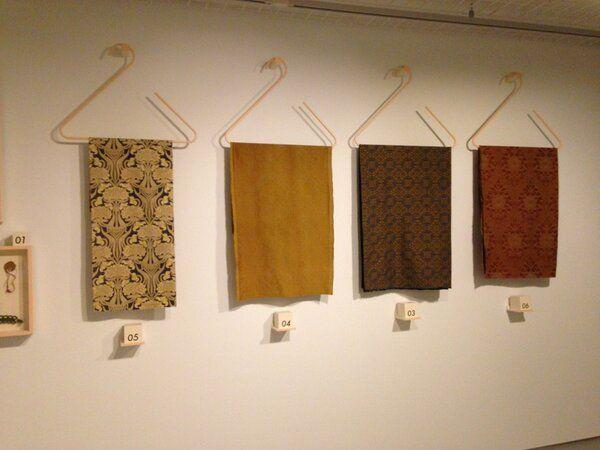 Maar ook tentoongesteld uit het archief van @TextielMuseum   TextielLab het werk van Chris Lebeau 'nieuwe kunst' van rond 1910