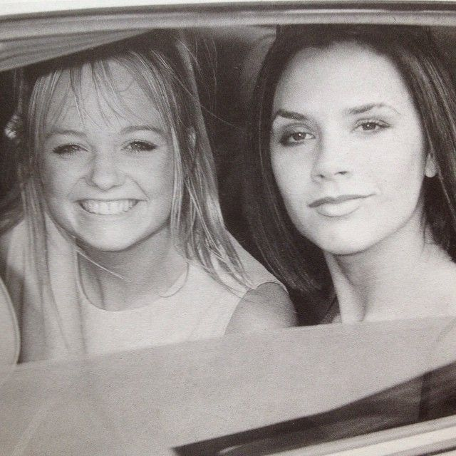 """Travelling in style! Emma and Victoria in a Rolls Royce at the Capital FM Roadshow on July 27th, 1996! ✌️ #spicegirls #spice #girlpower #Baby…"""