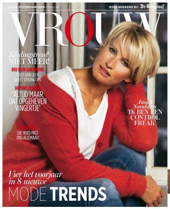 Anouk Smulders cover Vrouw Telegraaf 26 februari 2016