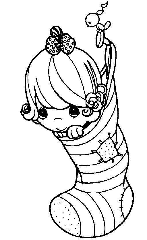 christmas precious moment coloring pages - photo#14