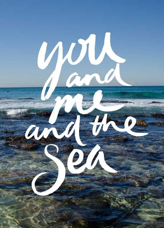 You and Me and the Sea | Art Print $18 | #society6