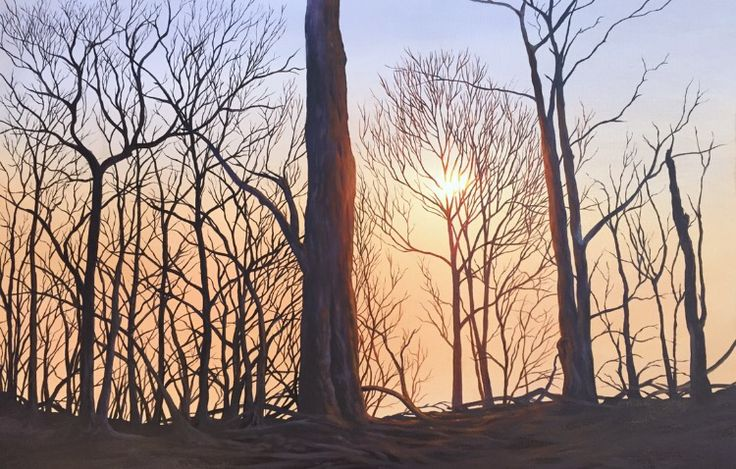 Black Saturday Bushfires, 2009. Oil Painting.