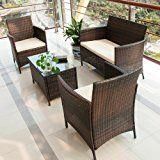 Rattan Wicker Patio Sofa Dining Table Set 4 Piece Balcony Outdoor Garden Pool Furniture Set White Cushioned Seat Black only $195.00 from https://www.amazon.com/Rattan-Balcony-Outdoor-Furniture-Cushioned/dp/B01BBU1BVO/ref=as_li_ss_tl?s=home-garden&ie=UTF8&qid=1489019427&sr=1-20&keywords=patio+furniture&linkCode=ll1&tag=pinhome-20&linkId=88d6c020e9ac0e52f7771e240c4fde1d