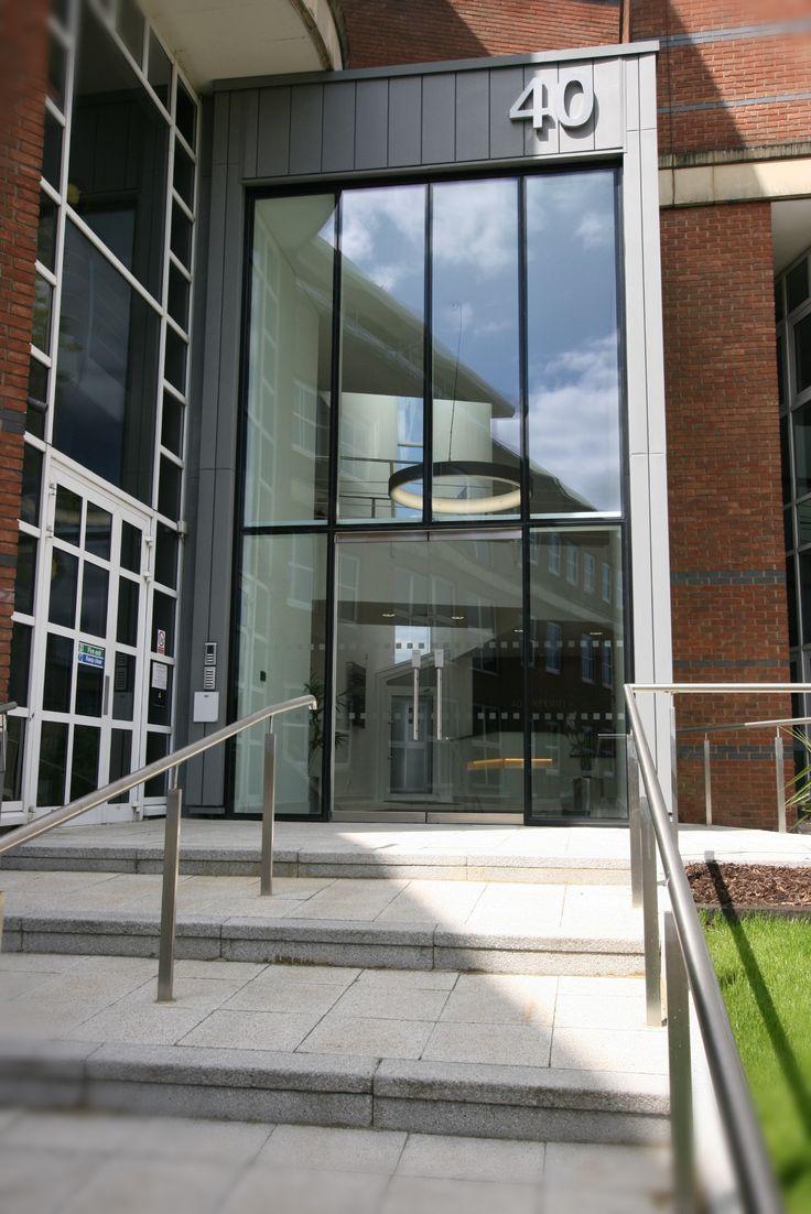 Main Entrance Lobby Double Height Glazed Atrium High WycombeMain EntranceLobbiesOxfordInterior DesignHands