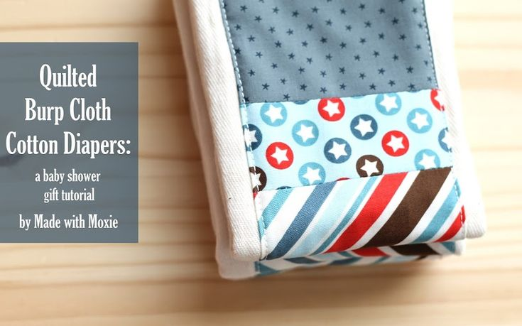 sew: Quilted Burp Cloth Cotton Diapers Tutorial || Made With Moxie