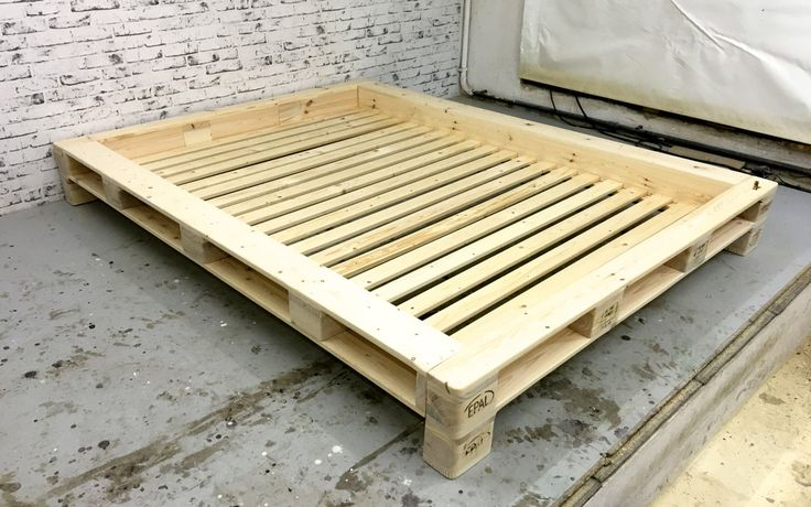Pallets futon bed 'New York' without headboard by SLLoftart