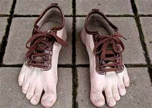 Cool shoes: Barefoot Shoes, Crazy Shoes, Funny Shoes, Barefoot Running, Shoes Design, Funny Stuff, Weird Shoes, Feet Shoes, Toe Shoes