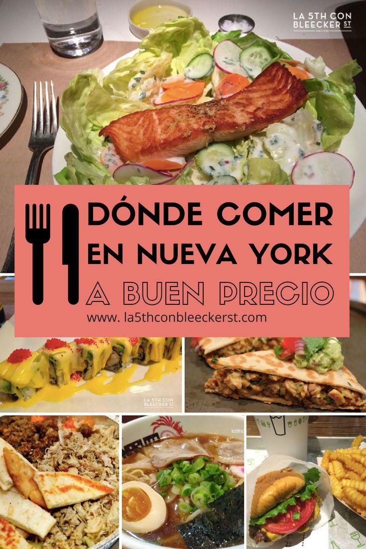 Dónde comer en Nueva York a buen precio