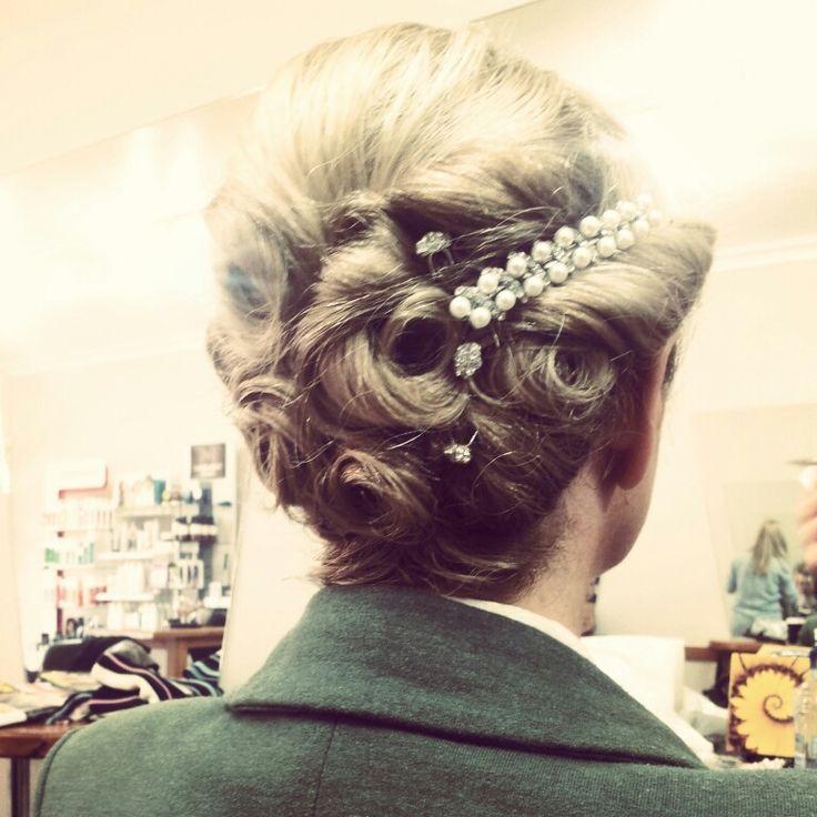 # wedding hair # vintage #hair up
