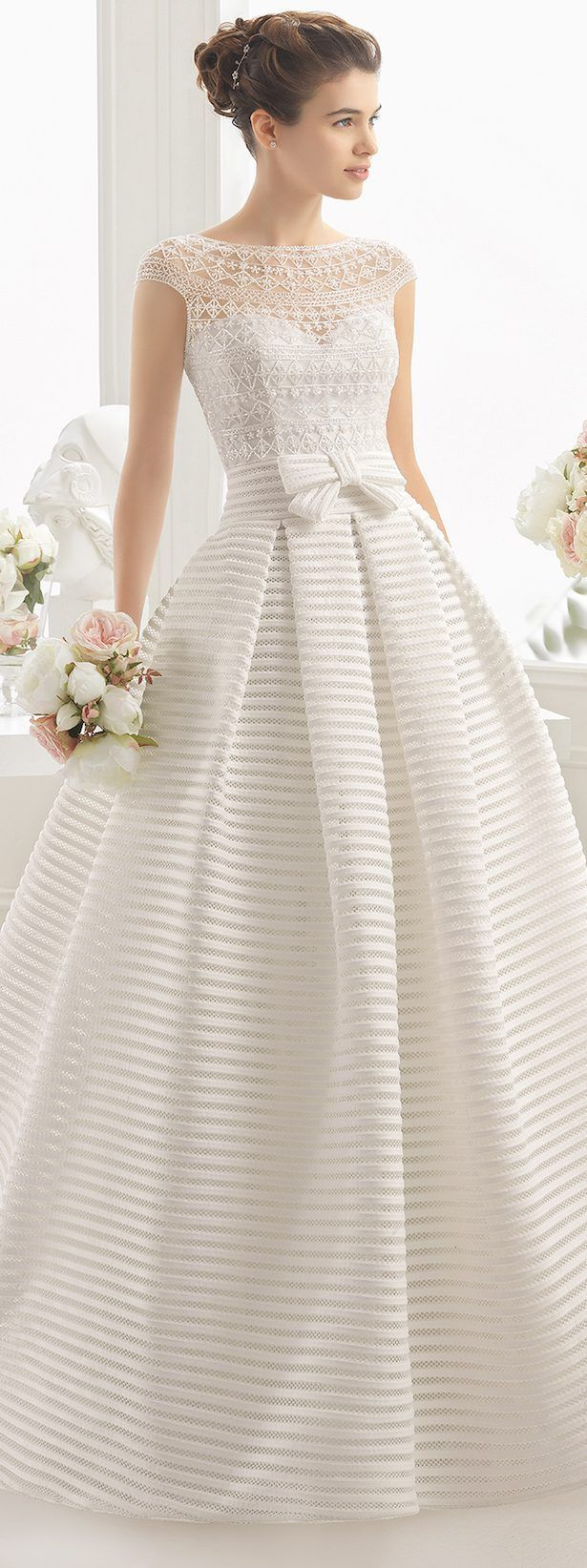 Wedding Dress by Aire Barcelona 2017 Bridal Collection - I like the shape, but not the fabric or lace...