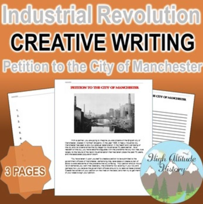 Industrial Revolution Petition To The City Of Manchester Creative