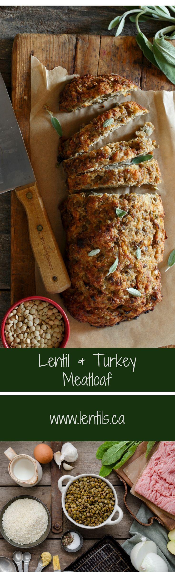 Lentil & Turkey Meatloaf with Apple & Sage | lentils.ca…