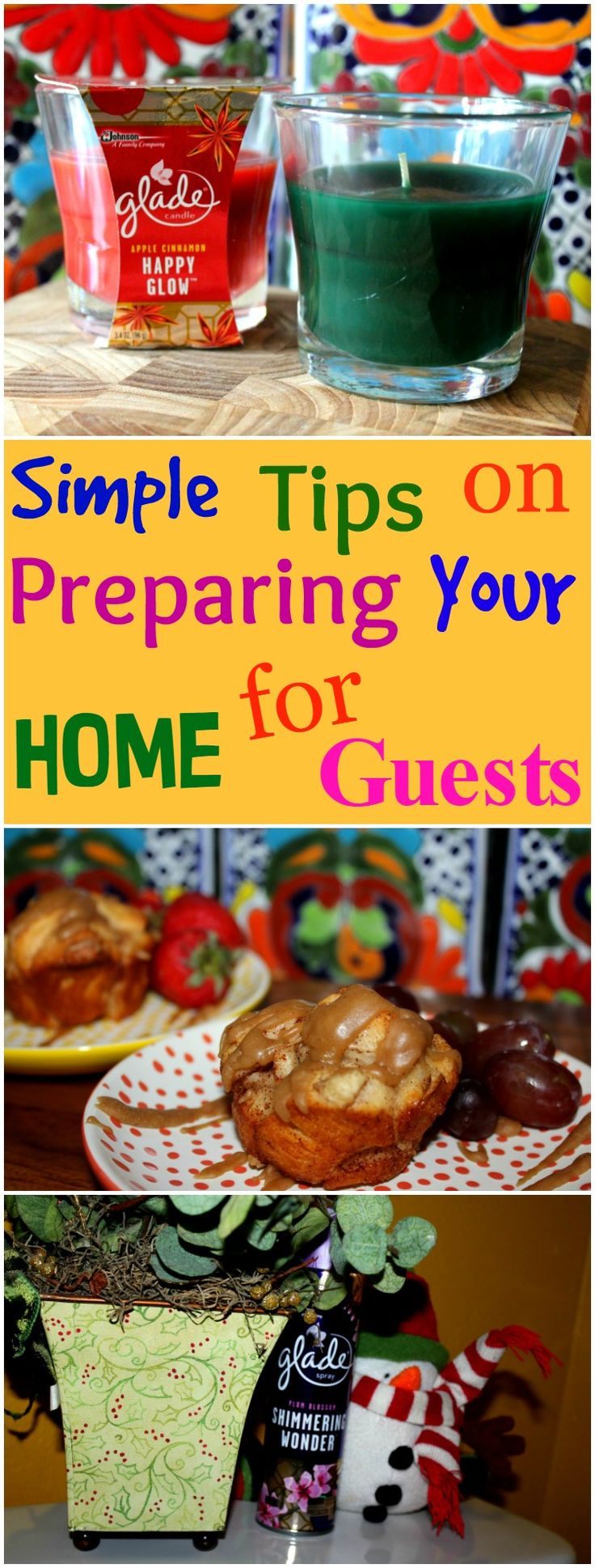 It is important to make your guests feel comfortable when they stay with you. Here are simple tips that will make your guests feel at home.#ad #gladeholidayjoy