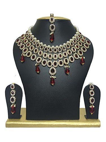 Traditional Indian Bollywood Gold Plated Ethnic Red Stone... https://www.amazon.com/dp/B01J3JFIY6/ref=cm_sw_r_pi_dp_x_PGxgzbV3TV247