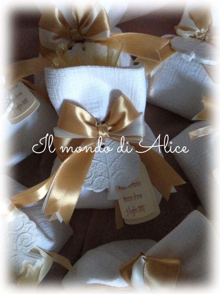 Bomboniere 50esimo anniversario matrimonio..Albero della vita in gesso ceramico