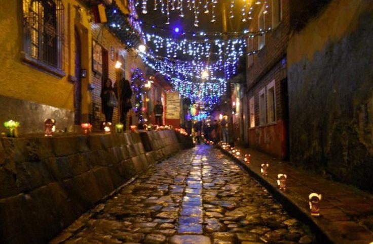 Calle de La Candelaria en navidad -  Foto: cafe-y-tertulia.blogspot.com