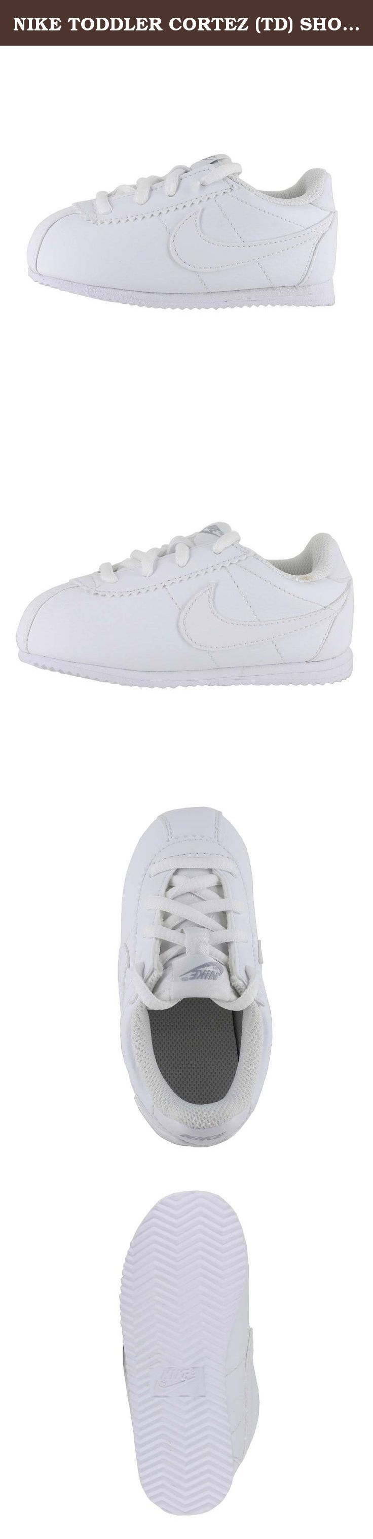 NIKE TODDLER CORTEZ (TD) SHOES WHITE WOLF GREY WHITE SIZE 10. Indulge in track-running nostalgia with the Nike Cortez shoe.
