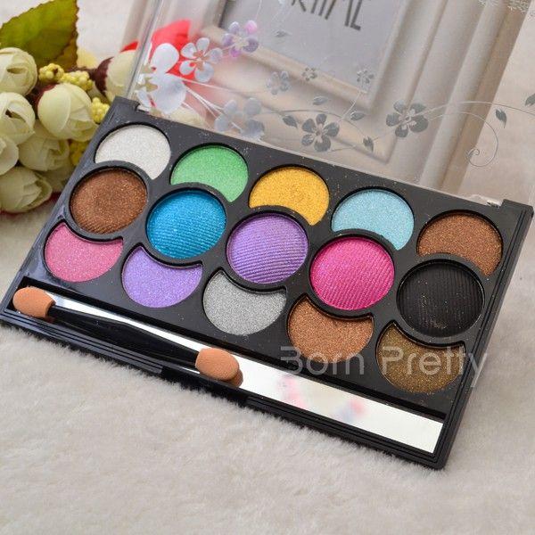 $5.99 15 Colors Shimmer Matt Eyeshadow Makeup Palette Waterproof Eyeshadow Cosmetic Set - BornPrettyStore.com