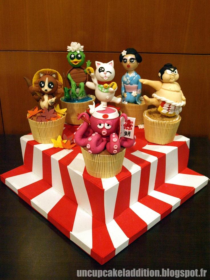 Expo Tarta 2013 : Cupcakes Japonais pour Concours de Cupcakes