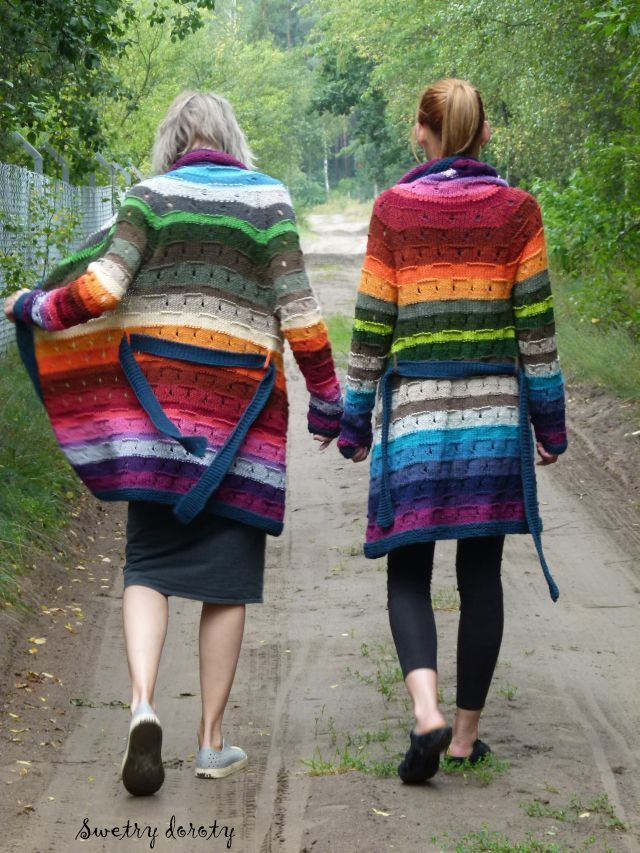 Perhaps this wouldn't be quite so eye catching and spectacular if it wasn't part of a pair, but the mother/daughter cardi is lovely.