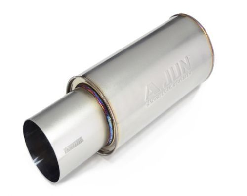 New-Korea-A-JUN-Car-All-Stainless-Steel-Sus304-Universal-Muffler-XR180