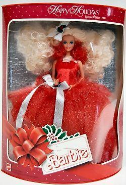 1988 Happy Holidays Barbie  - 1st Holiday Barbie