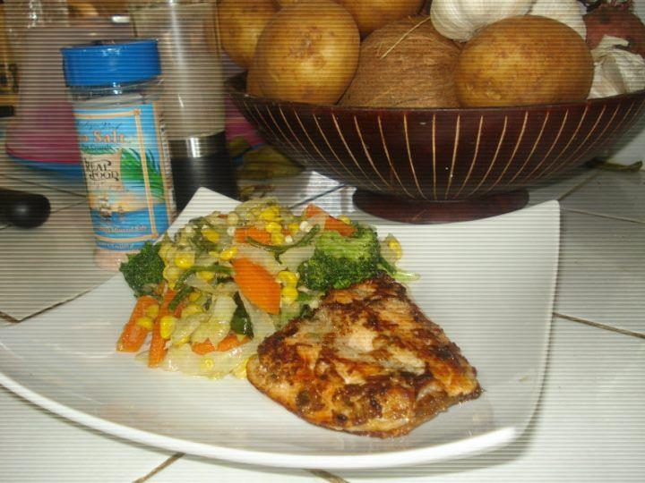 Grilled fish n veggies