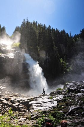 Krimmler Wasserfälle im Nationalpark Hohe Tauern,  Austria