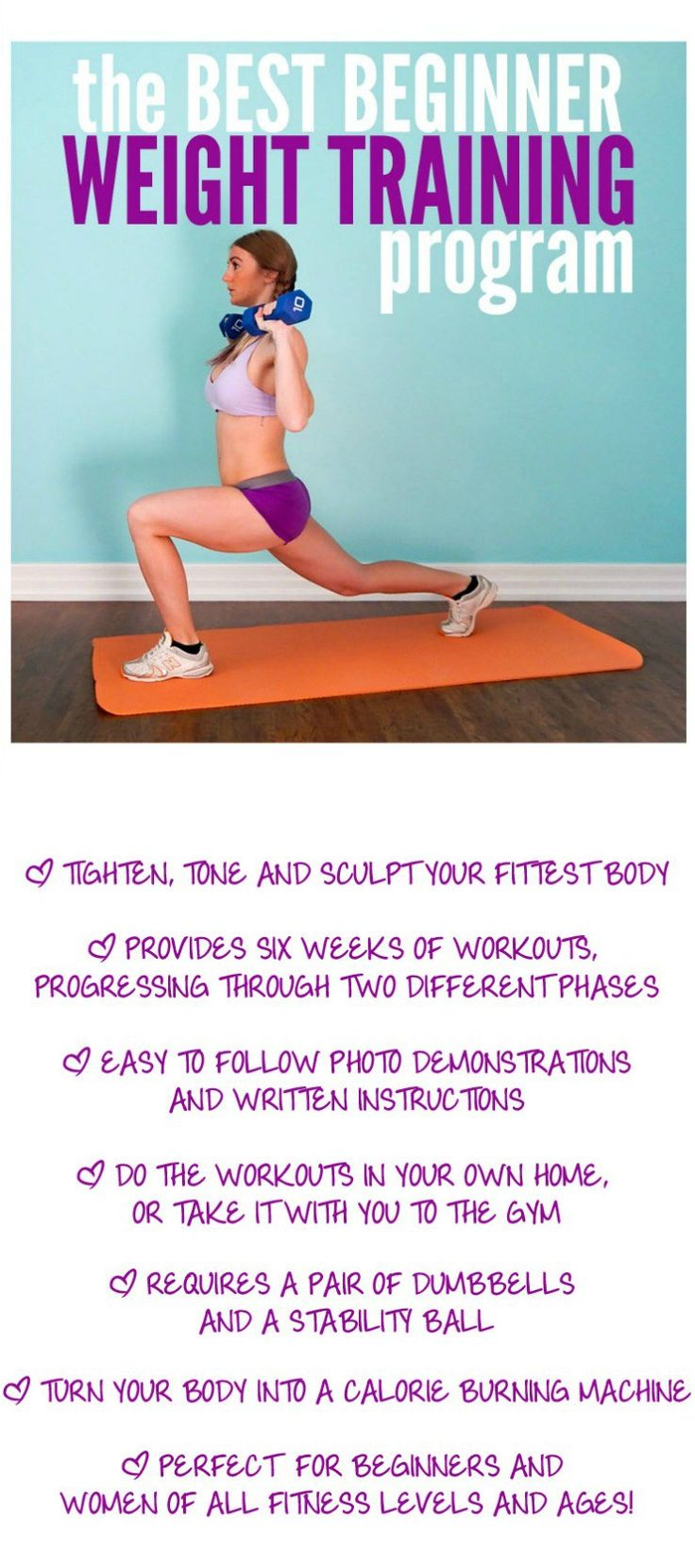 Easy to follow guide for weight training to get you the tighter, leaner body you want. It's all in the weights!