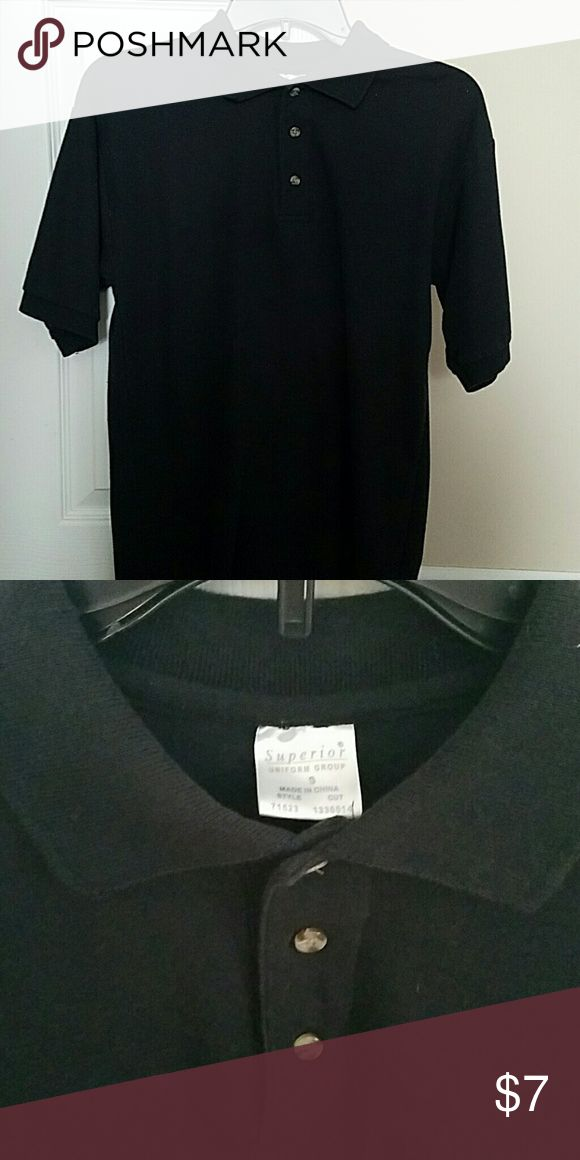 Black polo shirt, unisex Black polo shirt,, unisex from uniform group, size Small Tops
